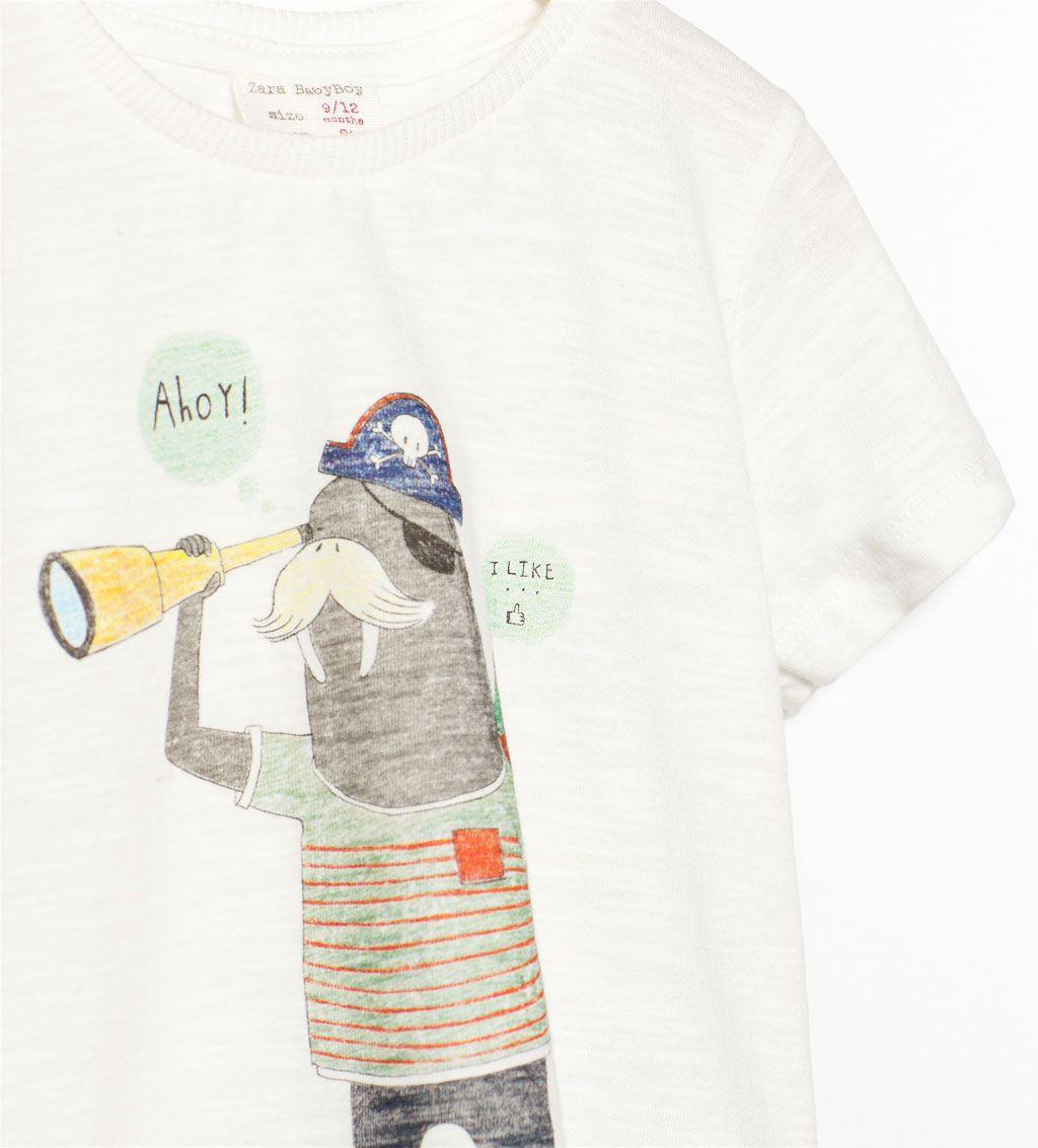 T Shirt Mit Fahrradprint T Shirts Baby Jungen 3 Monate 3 Jahre Kinder Zara Deutschland Toddler Fashion Toddler Outfits Anchor Shirts