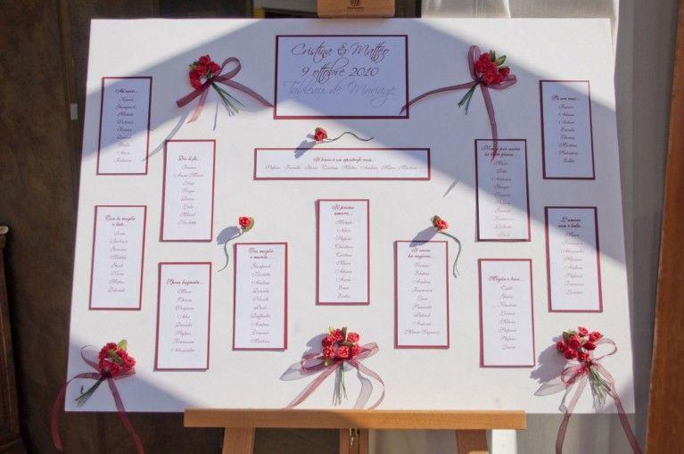 Tableau Di Matrimonio Idee Originali Tableau Con Dettagli Rossi Mariage Matrimonio Segnaposto Matrimonio