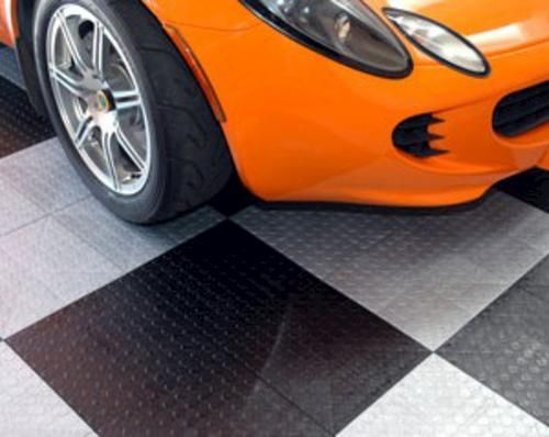 Xtreme Garage Coin Top Modular Garage Floor Tile 12 X 12 X 1 2 At Menards Garage Floor Tiles Garage Tile Garage Floor