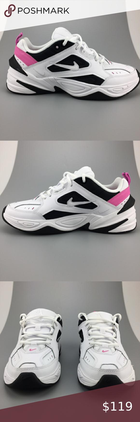 Tomar un riesgo Rechazar bufanda  Nike M2K Tekno White China Rose Black Sneakers | Pink nike shoes, White nike  shoes, Black sneakers