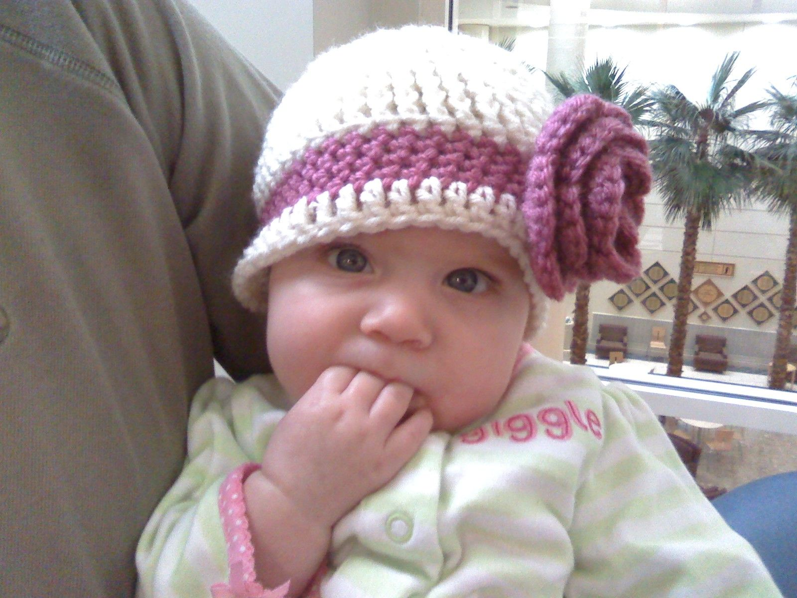Crochet baby hats free patterns crochet girls hat crochet for crochet flower hats toddlers girls baby children by simply crochet geek free instructions and patterns flat top beanie cap bankloansurffo Image collections