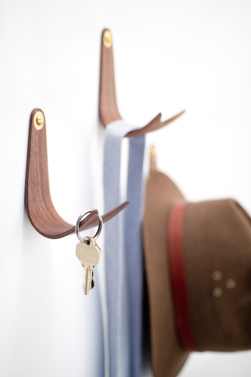 Domenic Fiorello Designs A Simple Wall Hook Made From Bent
