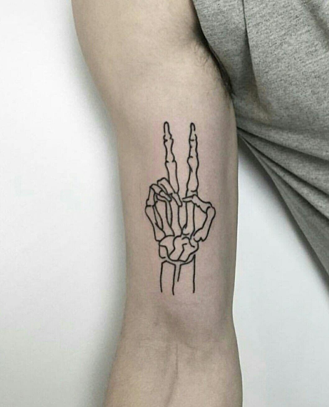 Peace skeleton tattoo Peace tattoos, Skeleton tattoos