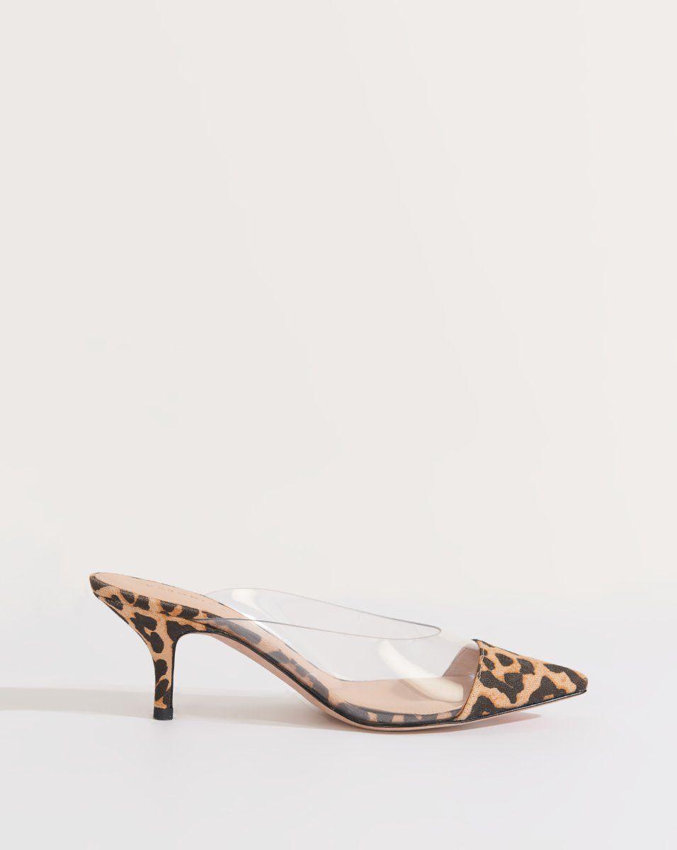 Maddie Kitten Heel Mule In 2020 Kitten Heels Heeled Mules Clear Shoes