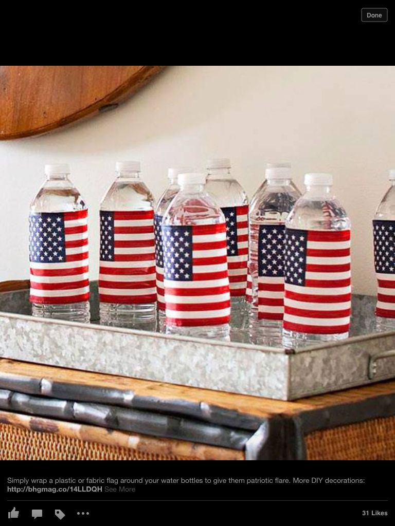 Decorate bottles of water or gatherings