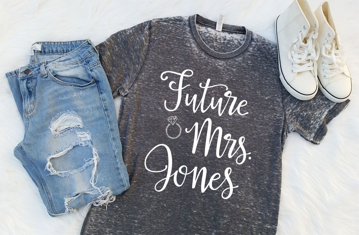 Future Mrs Shirt Raglan Bride Eroded