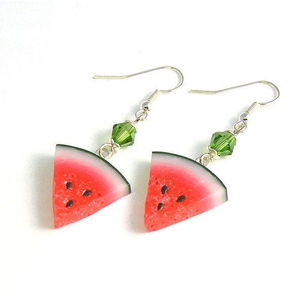 Resin Watermelon Hook Fashion Earrings