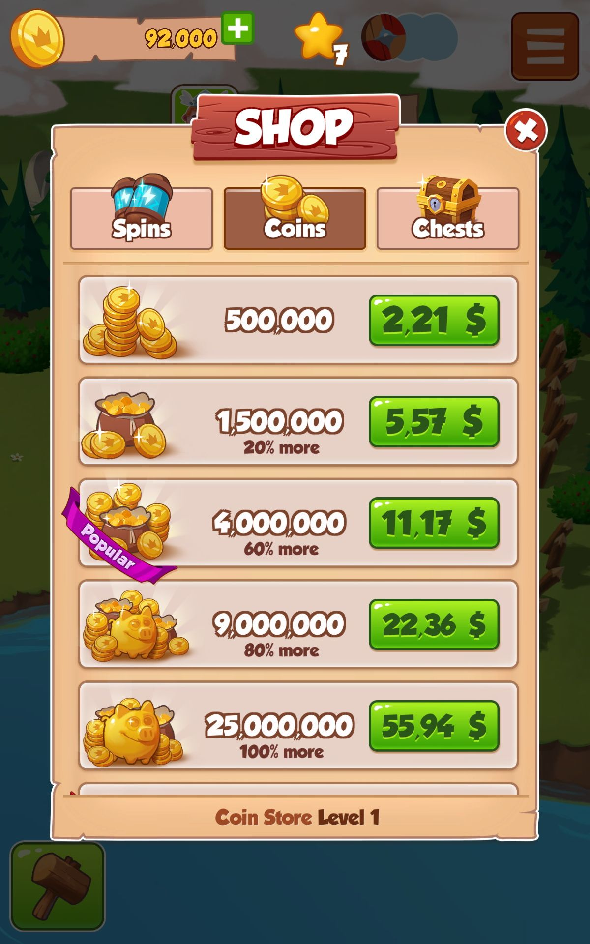 coin master store