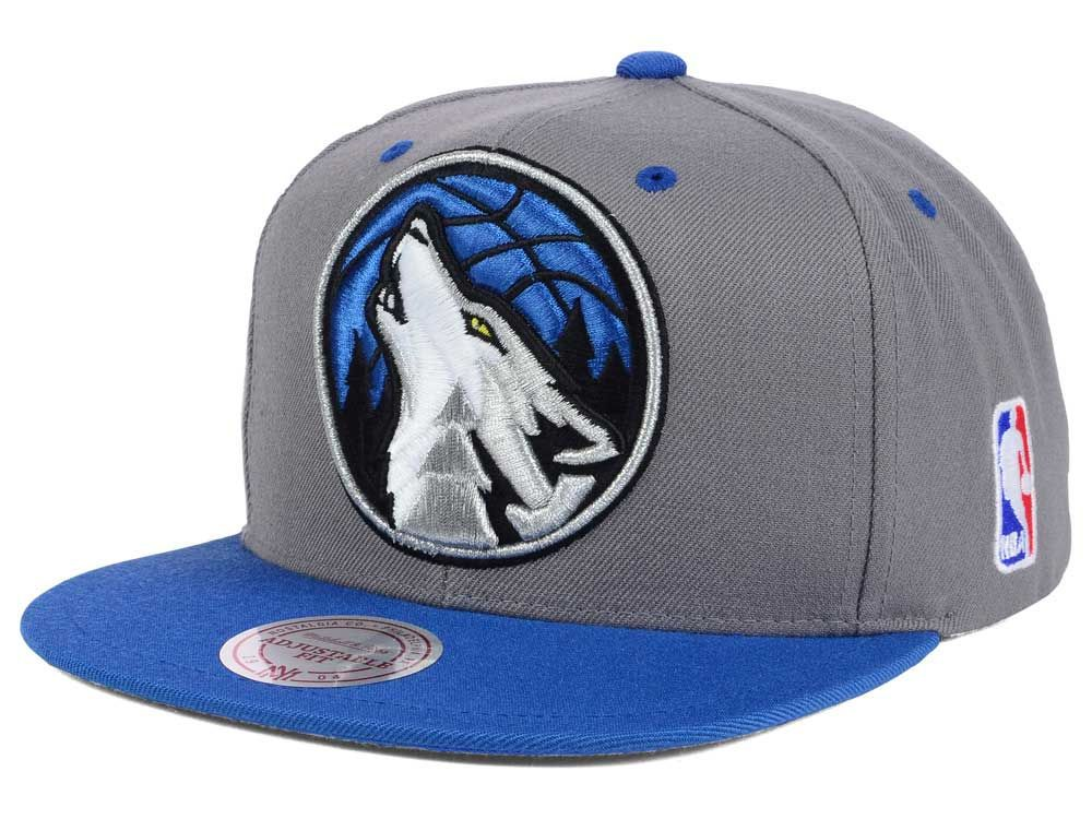 sports shoes 91f3f 2c2ee Minnesota Timberwolves Mitchell and Ness NBA Under Over Snapback Cap