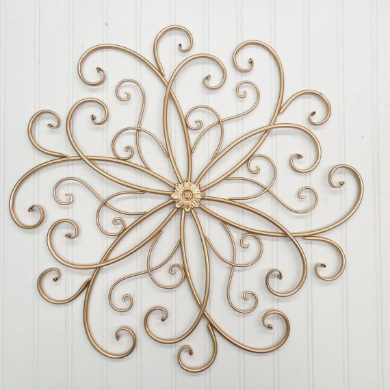 Wrought Iron Wall Decor You Pick Color S Gold Metal