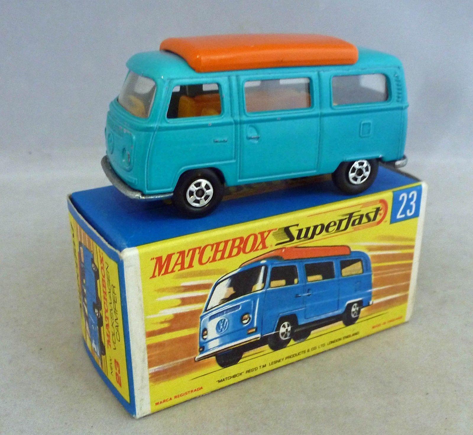 sports shoes new design newest Matchbox 1970 VW Kombi Camper Van T2 Bus RARE Huntsman Lodge ...