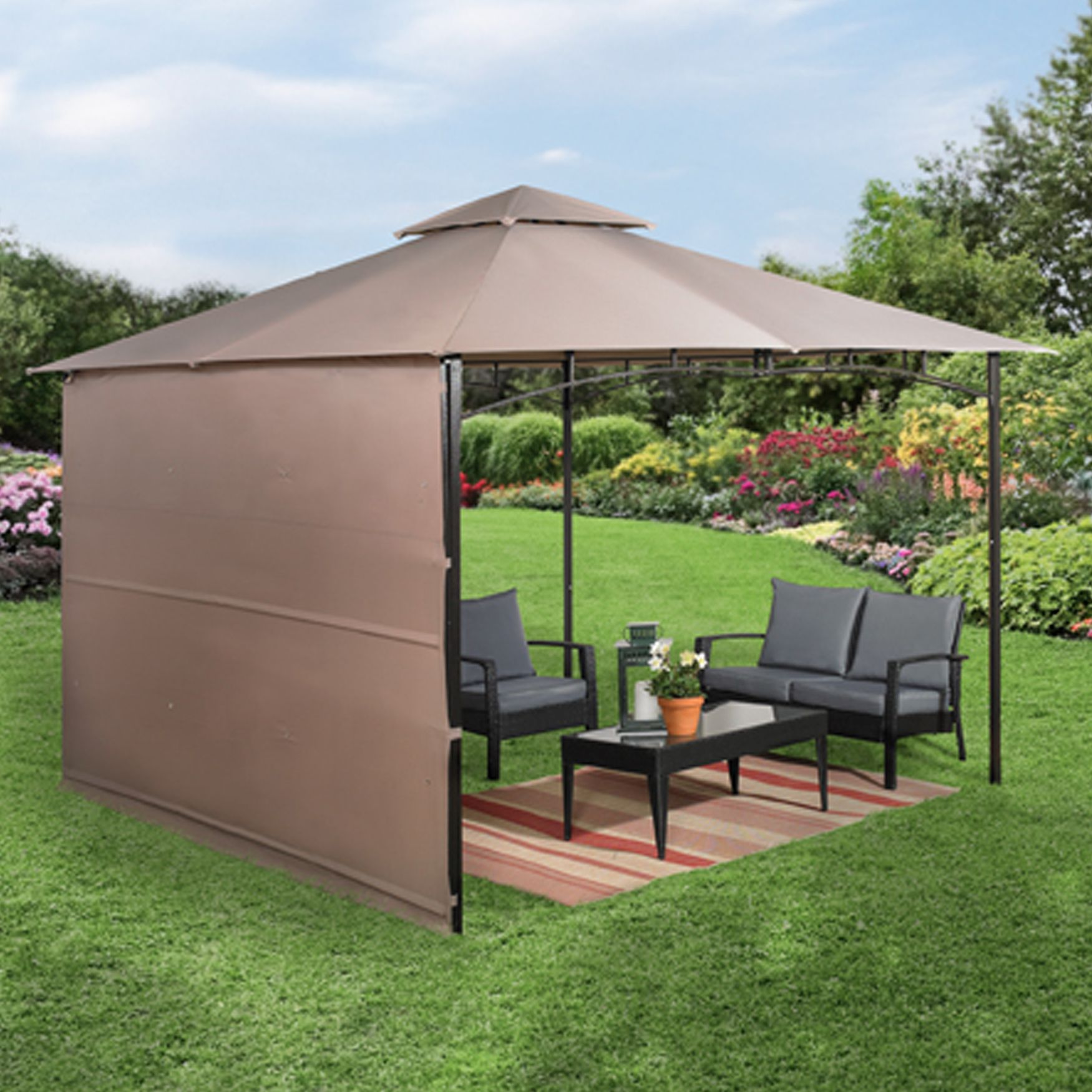 #135 10u0027x10u0027 Gazebo with Fold Out Extended Canopy & 135 10u0027x10u0027 Gazebo with Fold Out Extended Canopy | Designing Small ...