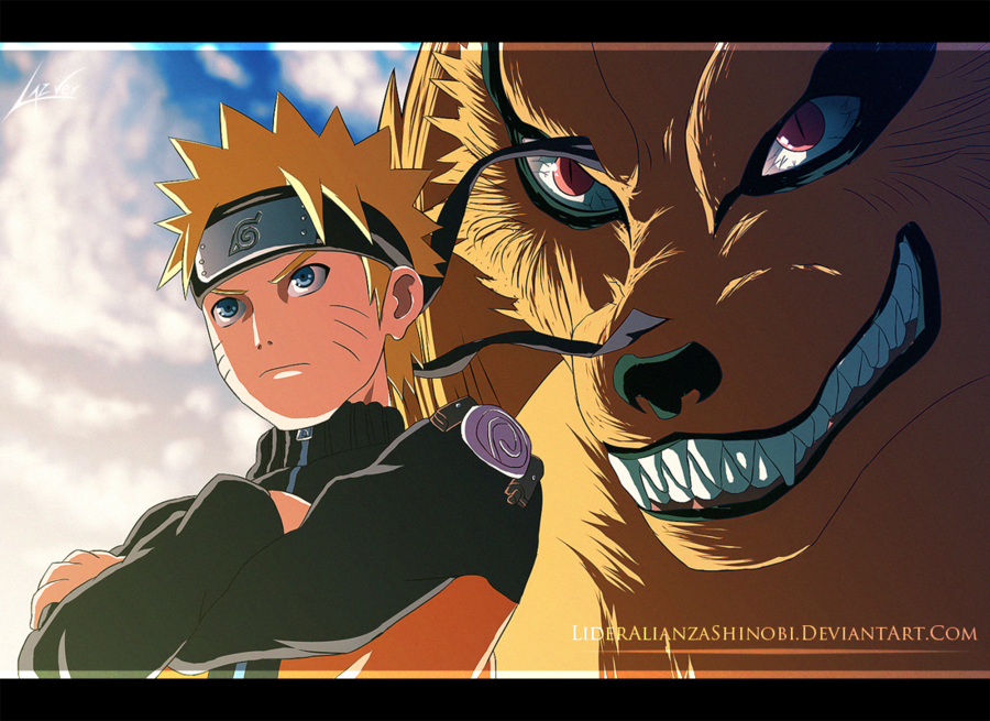 Naruto and the nine-tailed fox