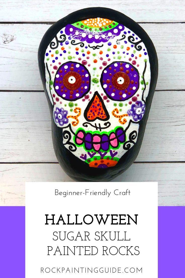 Zimmer im mexikanischen stil sugar skull rock painting for beginners  kids rock painting