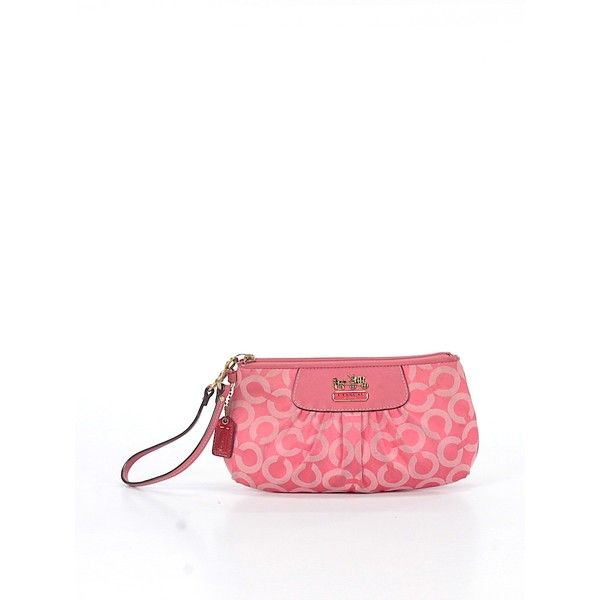 Pre-owned Coach Wristlet: Pink Women's Bags ($21) ❤ liked on Polyvore featuring bags, handbags, clutches, pink, handbags purses, pink clutches, wristlet clutches, pink wristlet and coach wristlet