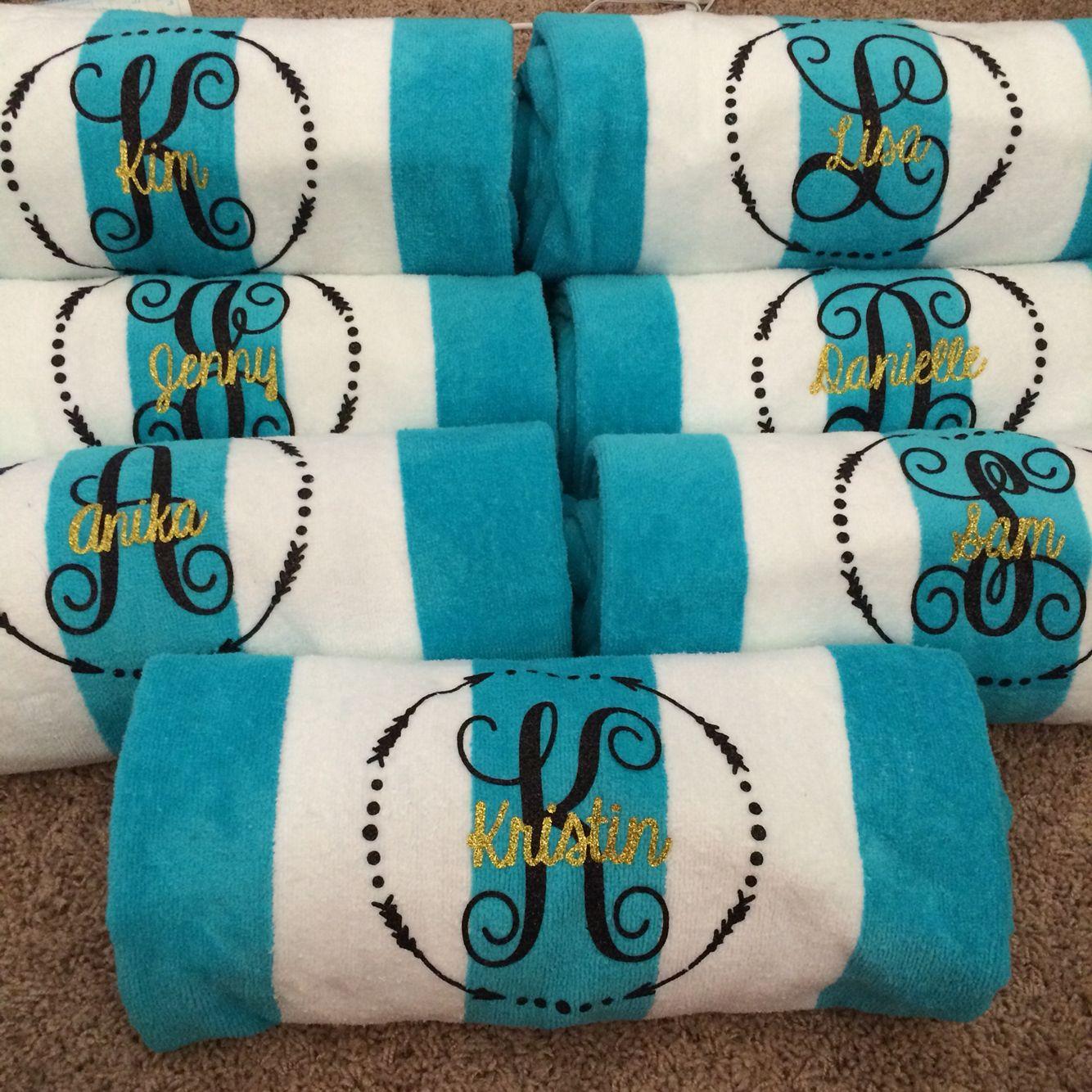 Bachelorette weekend beach towels Bachelorette weekend