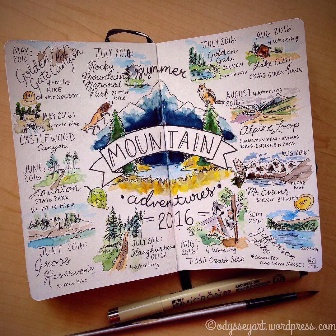 Sketchbook and travel journal inspiration pinteres for Journal art et decoration