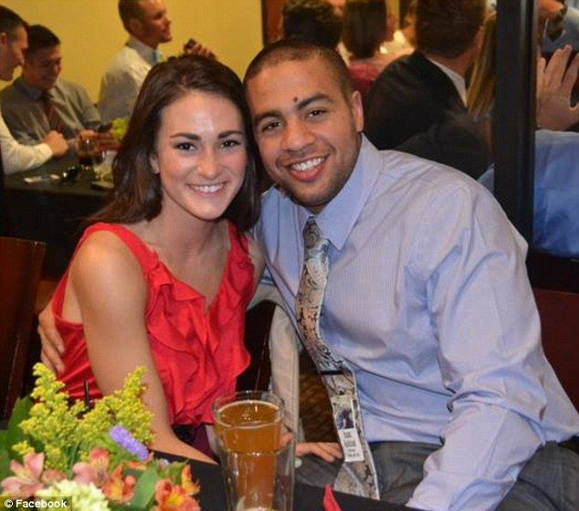 Attack: Isaac Kolstad, pictured with his wife Molly, was a former linebacker celebrating h...