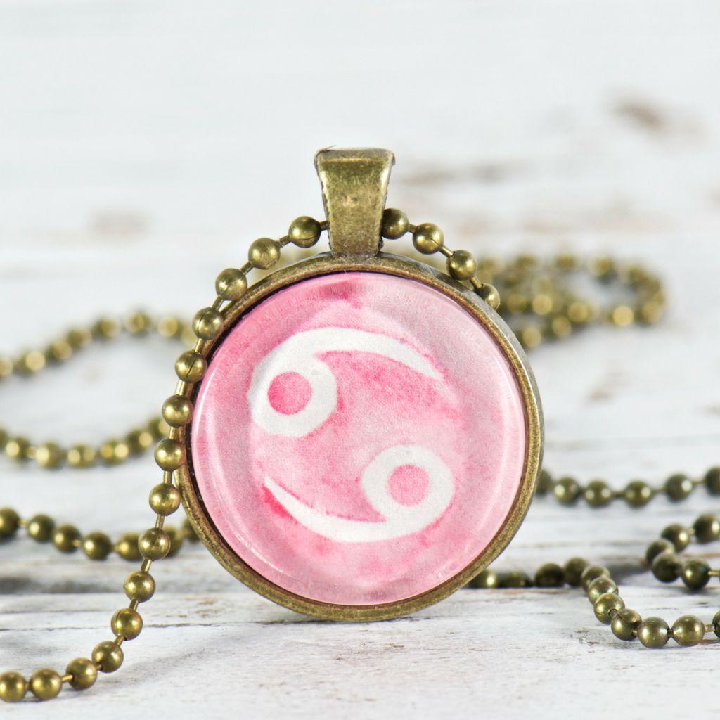Zodiac pendant necklace cancer zodiac pendant necklace aloadofball Choice Image