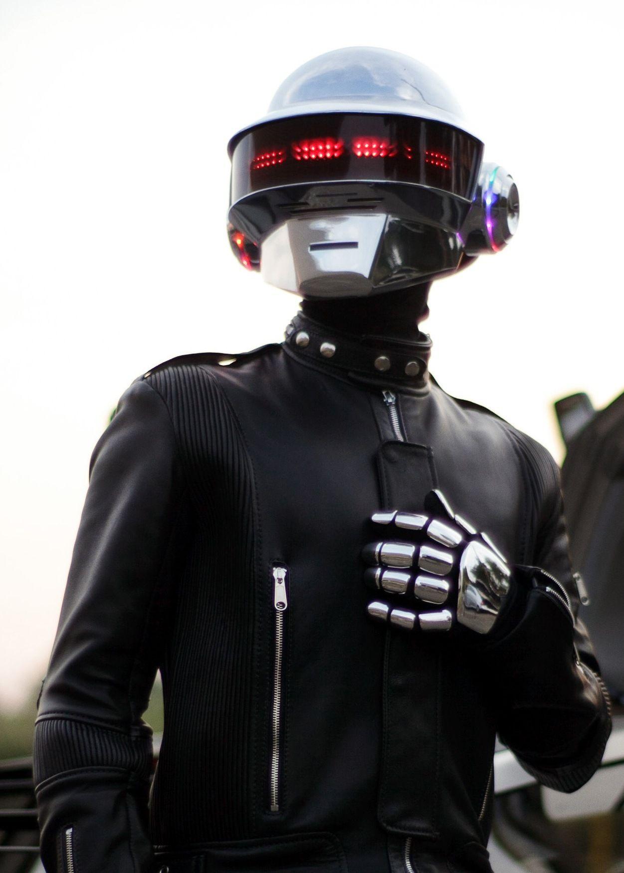 DIY Kit ALL Parts Included For Helmet Daft Punk Helmet Guy Manuel LED Set