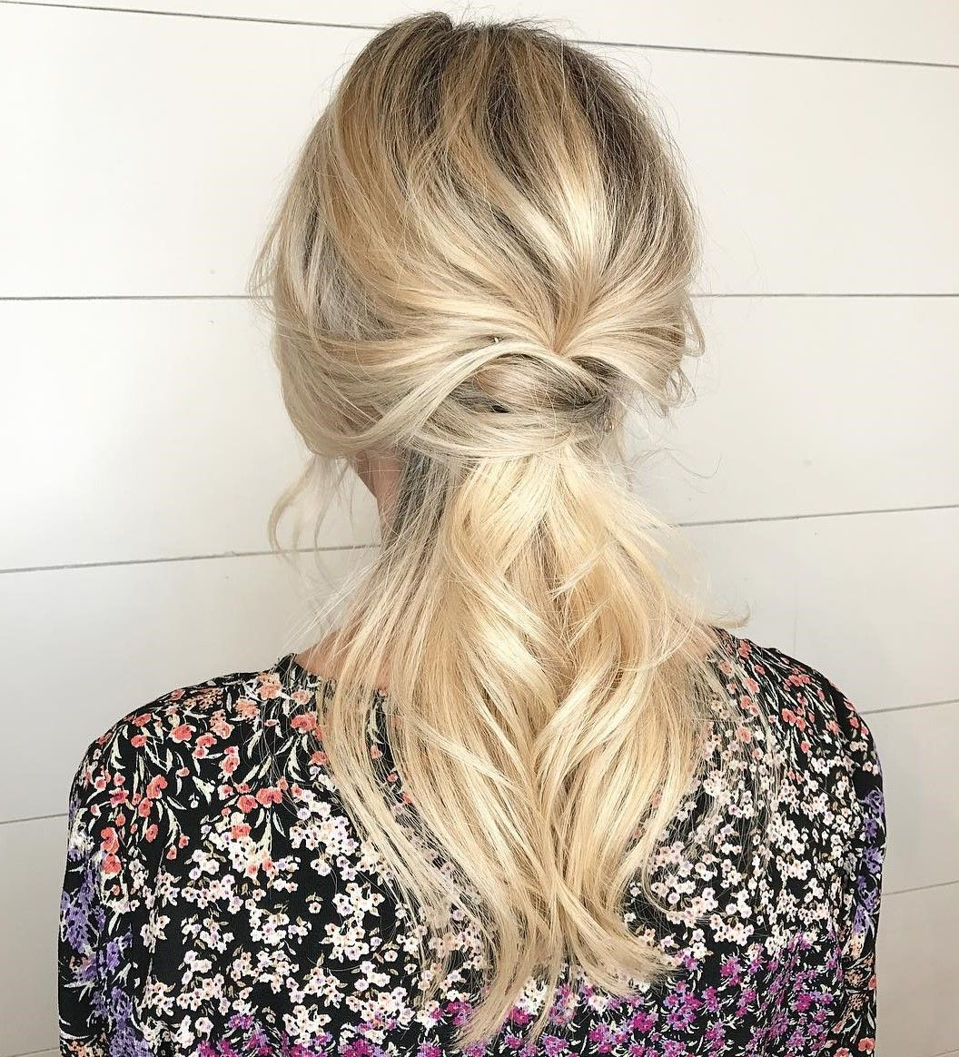 50 Ravishing Mother Of The Bride Hairstyles Low Ponytail Hairstyles Mother Of The Bride Hair Ponytail Hairstyles