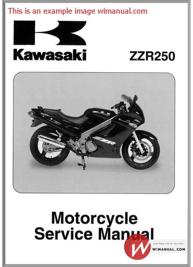 Kawasaki Zzr 250 Service Manual Repair Manuals Kawasaki Manual