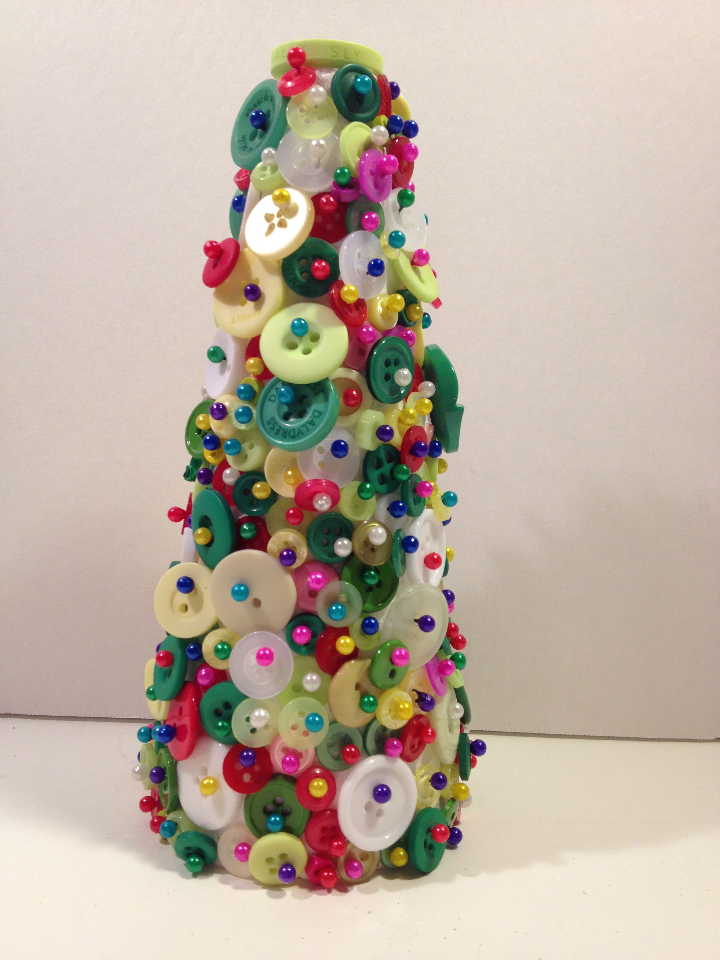 Mini button christmas tree us a la carte paper solutions by