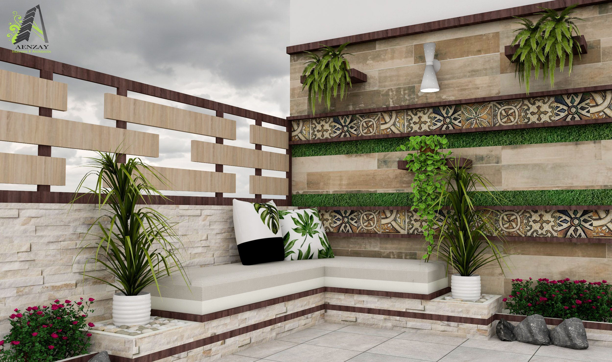 Terrace Design By Aenzay Interiors Architects Aenzay Is One Of The Top Construction Companies In Pakistan Terrace Design Interior Architect Best Architects