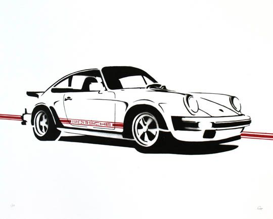 Handmade Prints of Classic Cars by Manual Designs