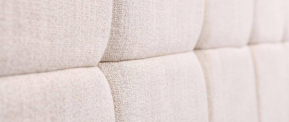 Tête de lit classique tissu beige naturel 140cm CLOVIS | chambre ...