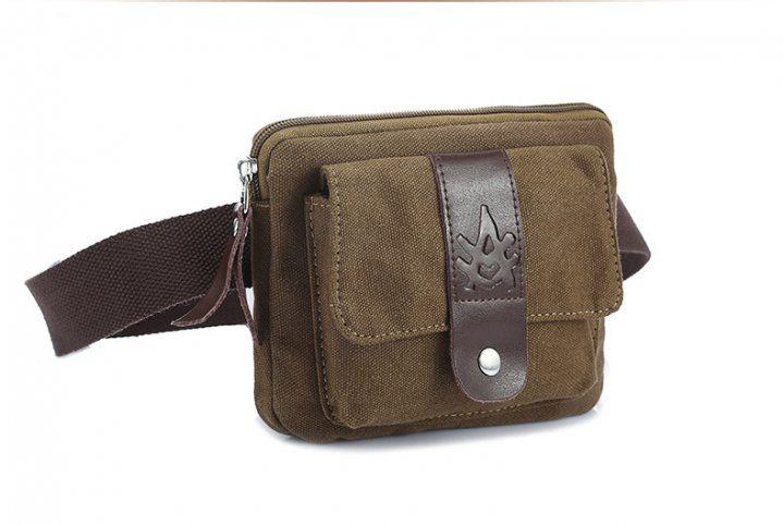 BA00369 Mini messenger shoulder unisex retro canvas chest pack