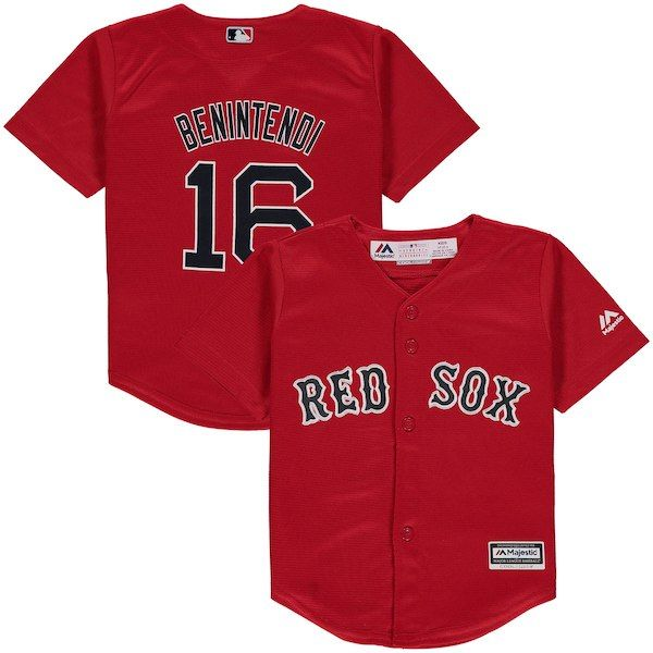 aa0405f8603 Andrew Benintendi Boston Red Sox Majestic Toddler Alternate Cool Base  Replica Player Jersey - Red