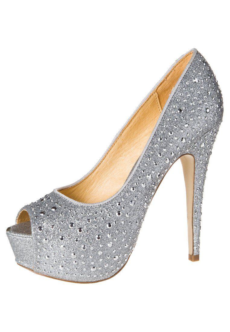 huge selection of 7f85e 64f9b Buffalo Peeptoes silber   Pumps - Shoes, High heels en Heels