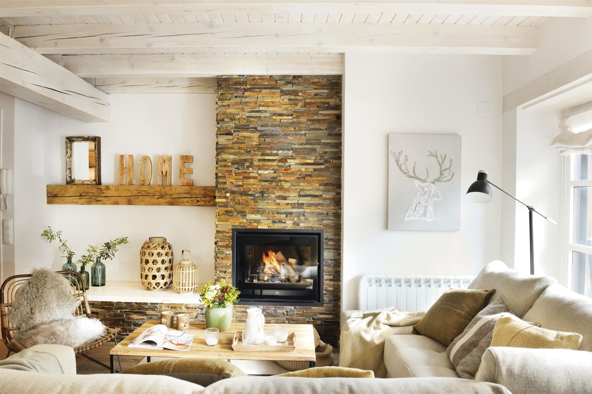 Sal N Con Chimenea De Piedra_00417835 2 Home Inspiration  ~ Muebles Con Chimenea Artificial