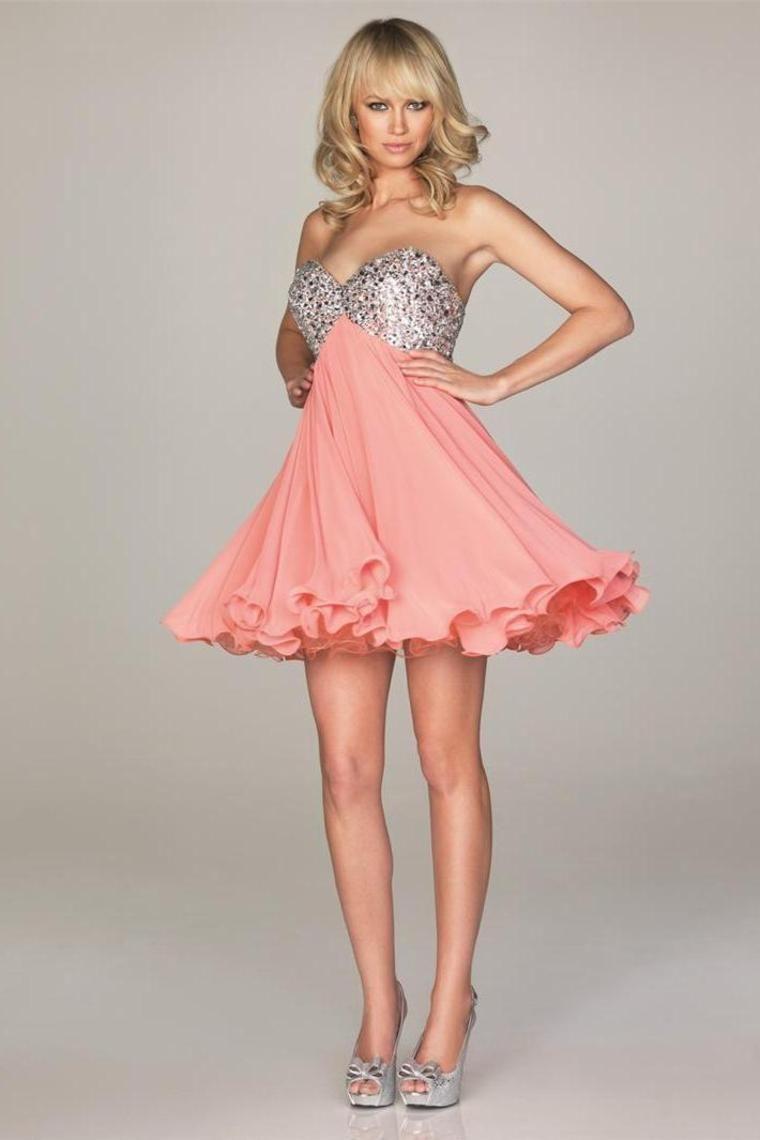 2013 Cheap Homecoming Dress Sweetheart Short/Mini Beadings Chiffon ...