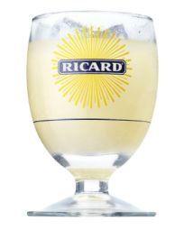 6 verres ballon ricard en verre logo solarisé 17cl
