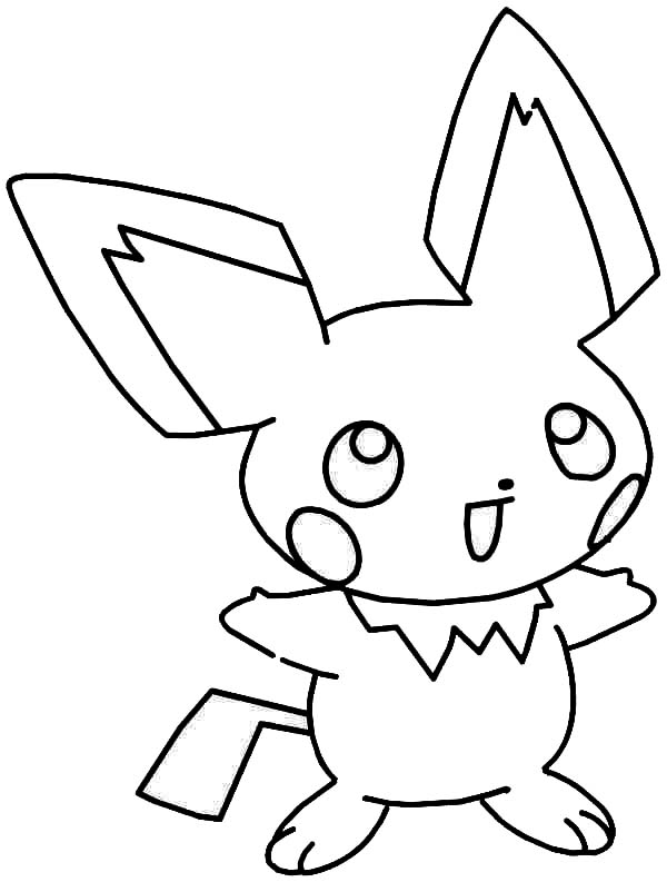 Laughing Pichu Coloring Page Color Luna Coloring Pages Coloring Pictures Color