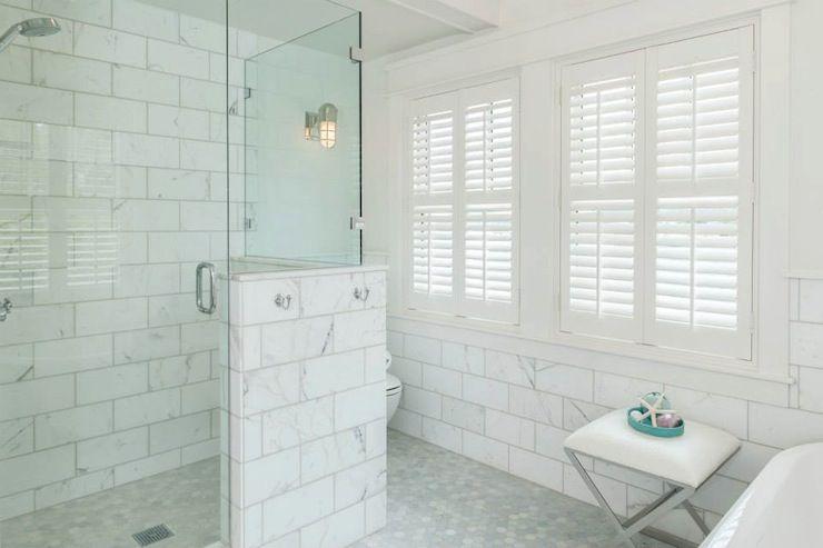Jas Design Build Bathrooms Large Marble Subway Tiles Oversized Marble Subway Tiles Large Subway Tile Showers White Subway Tile Shower Marble Subway Tiles