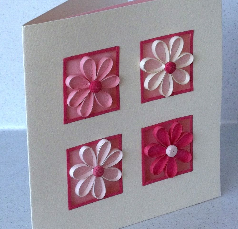 Quilling Ideas – Paper Birthday Card