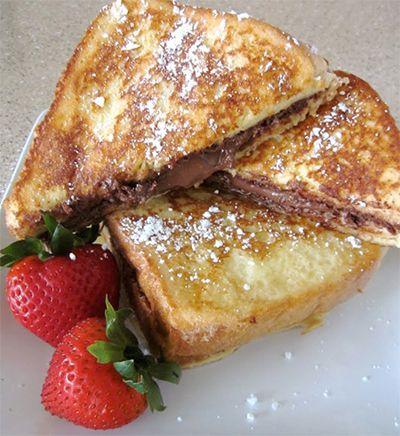 Breakfast of Champions - Nutella Stuffed Custard French Toast