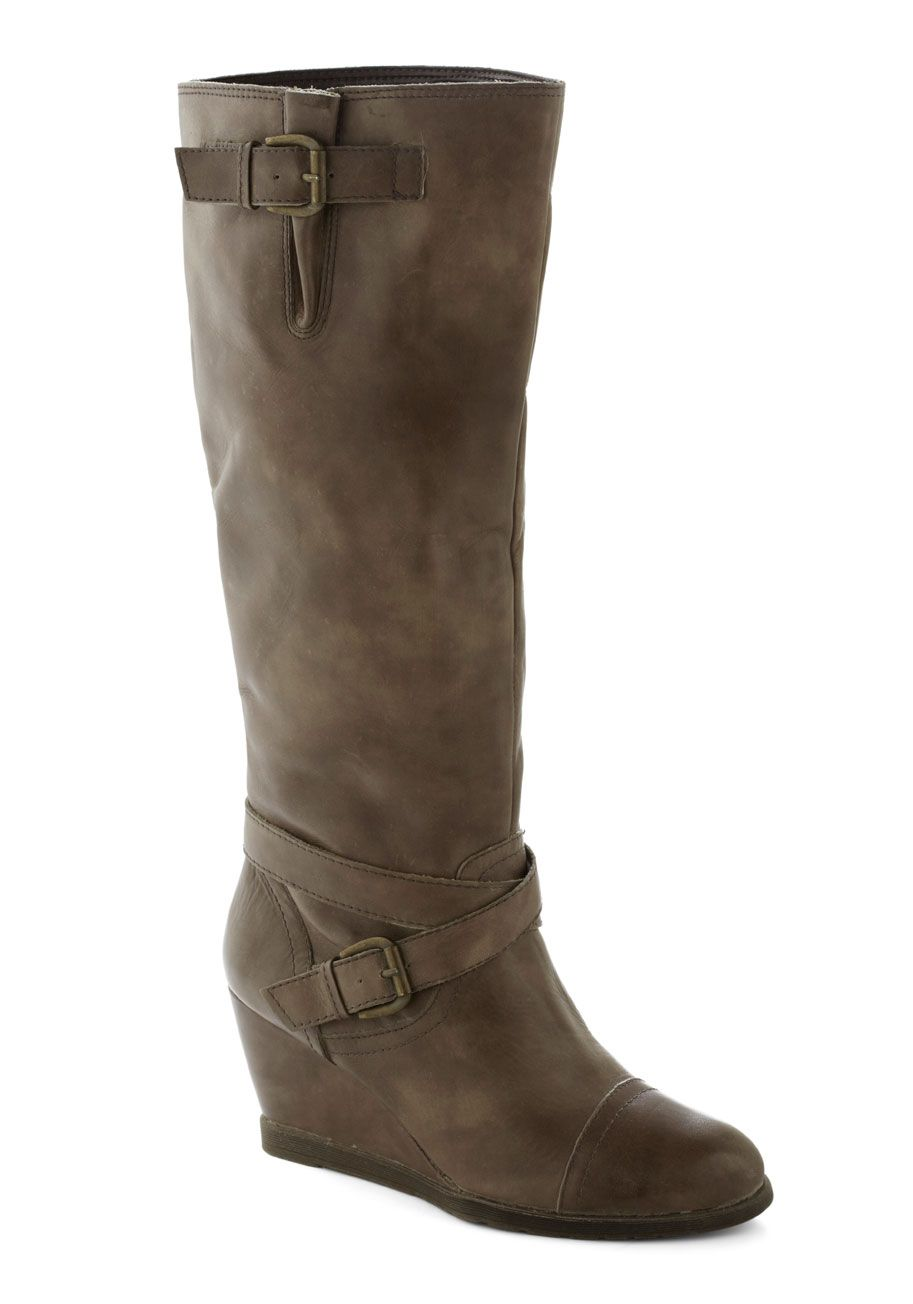 Goal-oriented Gal Boot in Grey | Mod Retro Vintage Boots | ModCloth.com