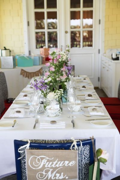 beautiful bridal shower tablescape idea see more bridal shower ideas and proper bridal shower etiquette at wwwone stop party ideascom