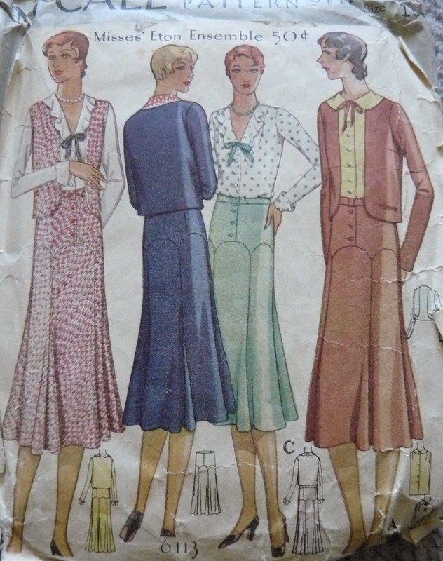 McCall 6113 | ca. 1930 Misses' Eton Ensemble
