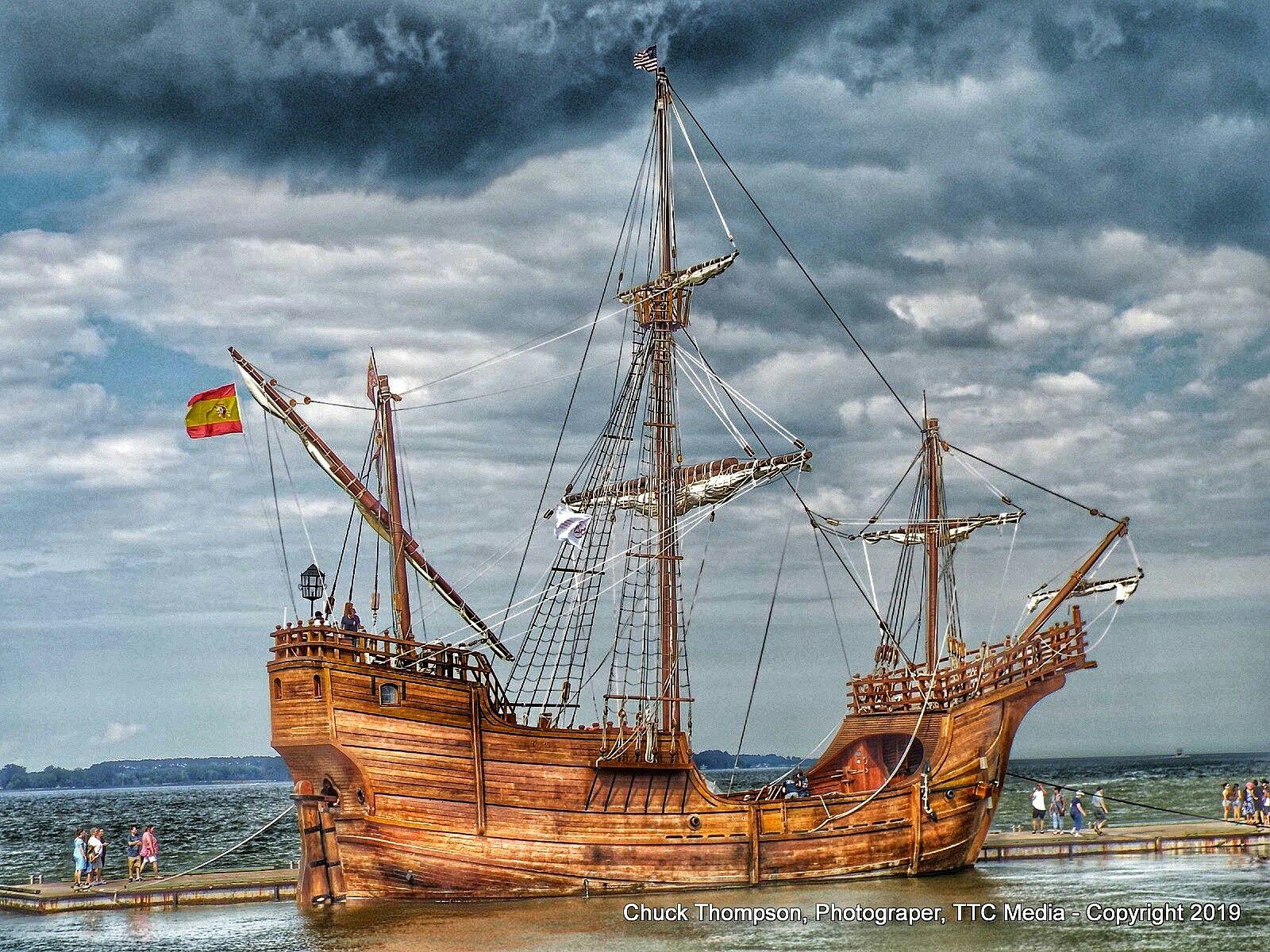 Pin Van Ttc Media Op The Santa Maria Christopher Columbus Flag Ship Zeilschepen