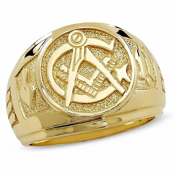 Men S Masonic Ring In 10k Gold Masonic Ring Masonic Rings Jewelry Body Jewelry Shop