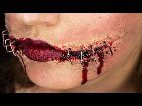 Ripped & Stapled Mouth | Chelsea Smile Halloween Tutorial ...