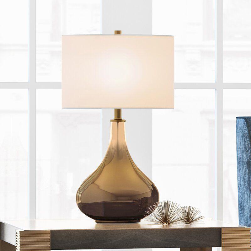 Mercer41 Halina Table Lamp Reviews Wayfair Glam Table Lamps Table Lamp Glass Table Lamp