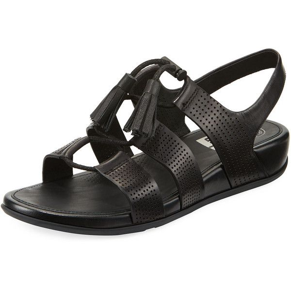 3bfc6a46b96f Fitflop Gladdie Lace-Up Leather Sandal ( 83) ❤ liked on Polyvore featuring  shoes