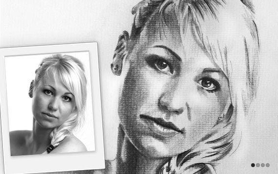 Portrait zeichnen lassen Bleistiftzeichnung Portrait