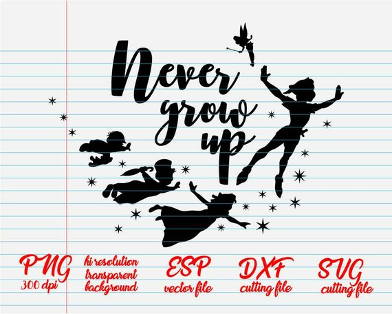 Peter Pan Never Grow Up Disney Quotes Quote Svg Quote Clipart